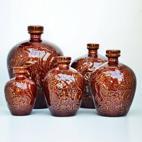 隆昌通用龙凤纹陶瓷瓶